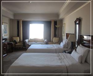 ウェスティンホテル東京、ベッドルーム。このベッドが素晴らしいのです♪