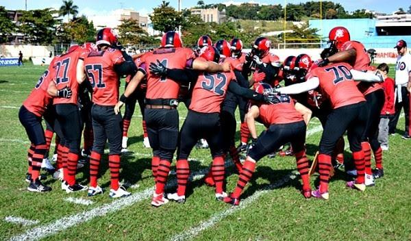 Rubro-Negro vence o Timbó Rex e segue invicto no Torneio Touchdown (Foto: Jayson Braga/Divulgação)