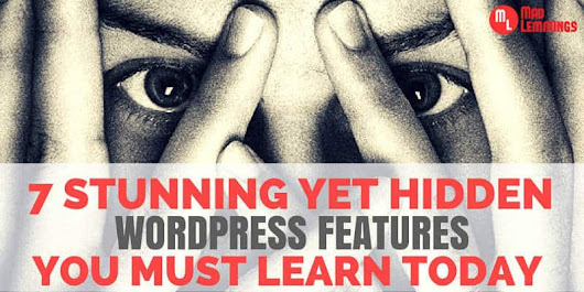 7 Stunning WordPress Features That Most Of You Don't Know - Mad Lemmings