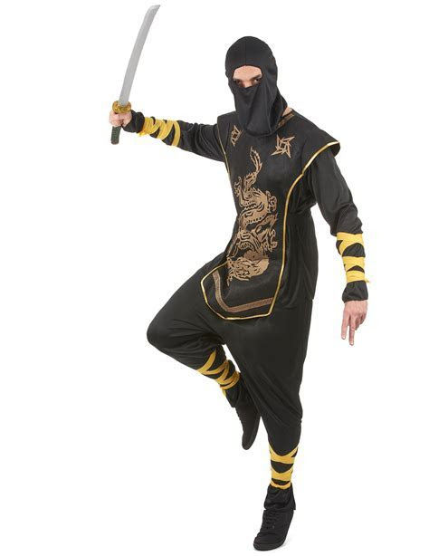 Golden Ninja costume for men: Adults Costumes,and fancy