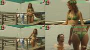 Joana de Verona sensual em biquini na novela Ouro Verde