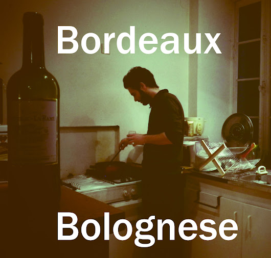 Spaghetti bolognese recipe using Bordeaux red wine