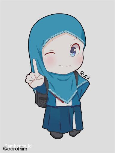 Gambar Kartun Muslimah Yang Lucu Design Kartun