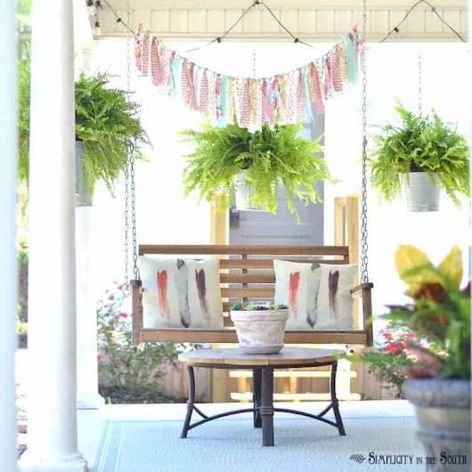 Simple Decorating Ideas for Summer- Seasonal Simplicity Summer Home Tour 2017 - Simplicity in the South