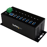 StarTech.com USB 3.0 – Up To 5 Gbps – 7 x USB – Universal Multi Port USB Extender for Your Desktop – USB Powered Hub - 7 SuperSpeed USB 3.0 Ports