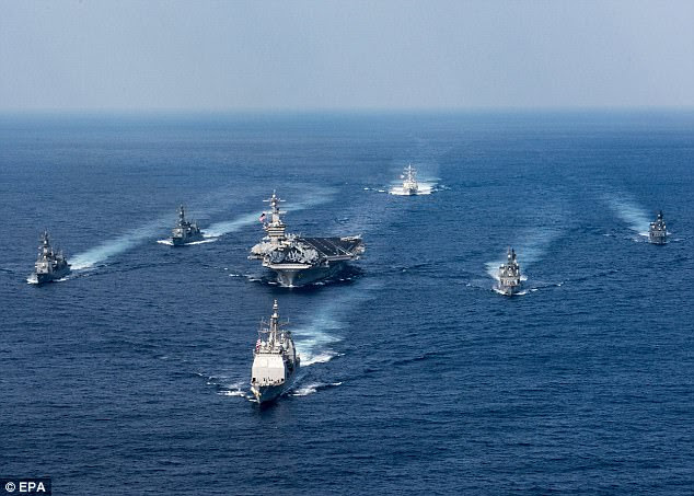 Meanwhile, the US Navy has moved the USS Carl Vinson aircraft carrier strike group from Singapore to North Korea after the country conducted more missile testing