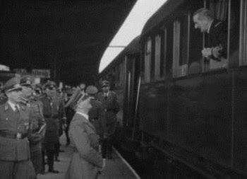 Imagem de Hitler e Miklós Horthy no comboio