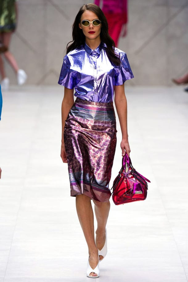 the holographic trend retro futuristic glam luxe or