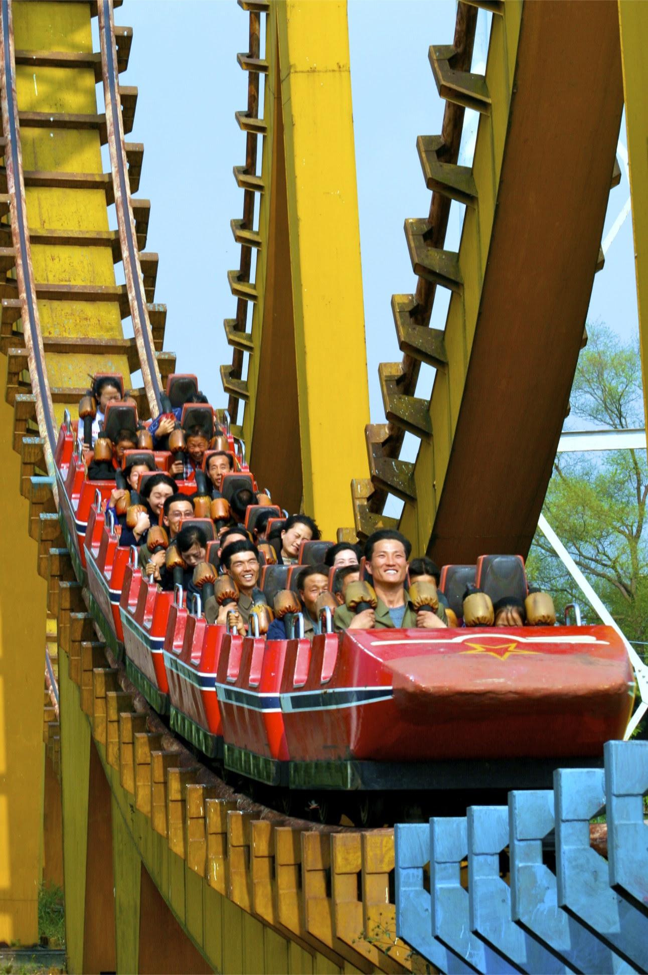 north korean women marching. A North Korea Rollercoaster