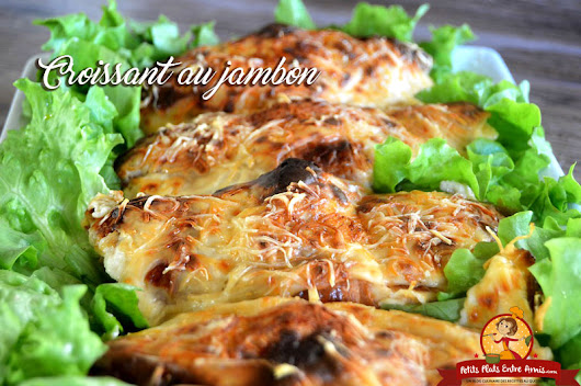 Croissant au jambon. Le croissant au jambon fromage est facile à préparer et ...
