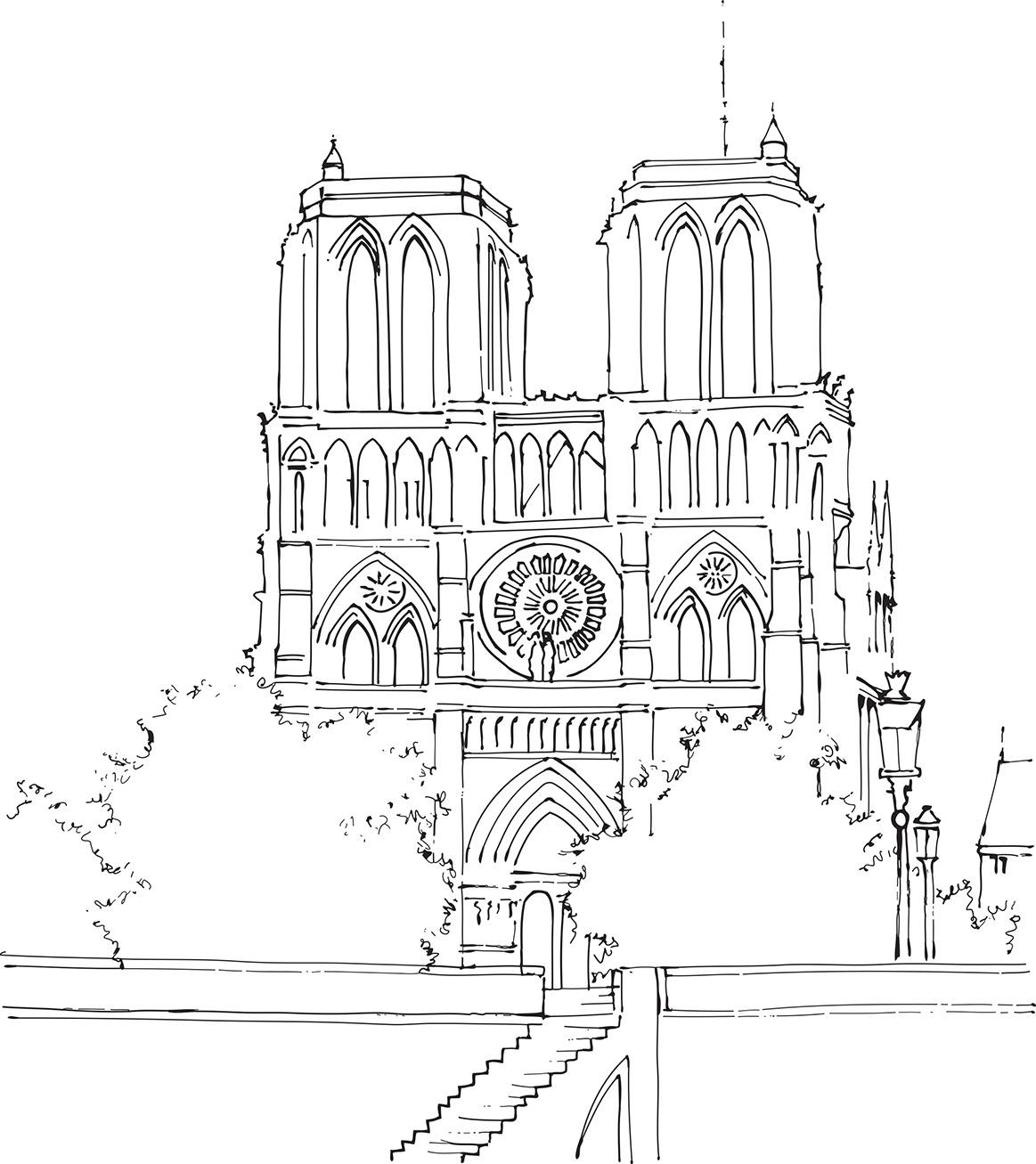 Coloriage De Paris Et Ses Merveilles Notre Dame De Paris