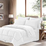 Sweet Home Collection Dobby Embossed King 8-Pc Comforter Set - White