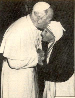John Paul II & Mother Teresa