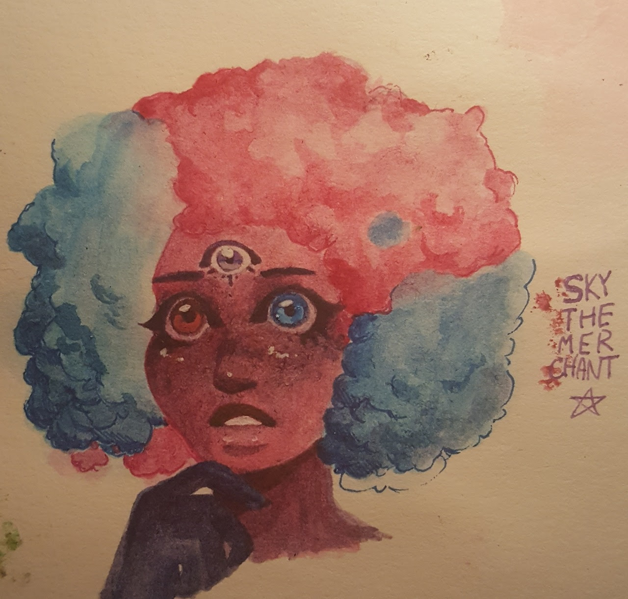 cotton candy garnet is one of my favourite things to draw. Her hair is so good.