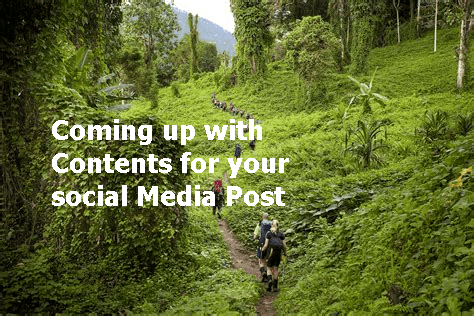 Coming up with Content for Social Media Post