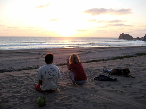 Laura, Julien and the sunset