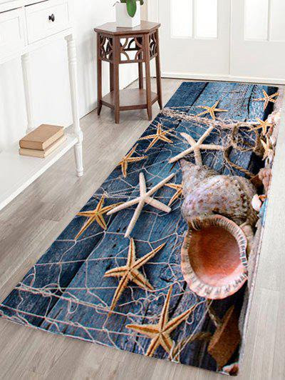 Coral Velvet Starfish Conch Floor Area Rug
