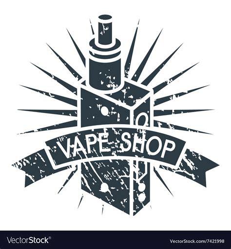vape shop logo royalty  vector image vectorstock
