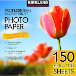 "Kirkland Signature 8.5"" x 11"" Professional Glossy Inkjet Photo Paper"