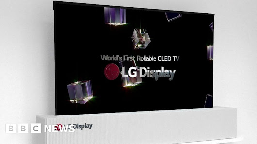 LG Display unveils large rollable TV