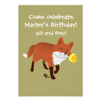 Foxy Birthday Invitation