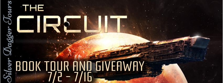 Book Tour Banner for science fiction / space opera The Circuit:  The Complete Saga by Rhett C. Bruno with a Book Tour Giveaway