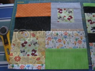 Improv Block 2 - My First Quilting Bee for me.