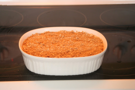 Healthy Rhubarb Apple Crumble
