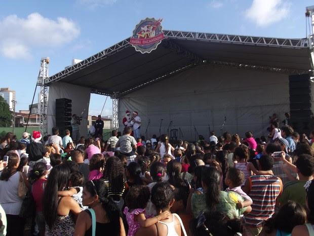 Natal Encantado aconteceu neste sábado (14), no Sesi Clube, em Natal (Foto: Klênyo Galvão/G1)