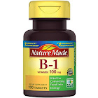 Nature Made Vitamin B-1, 100 mg, Tablets - 100 count bottle