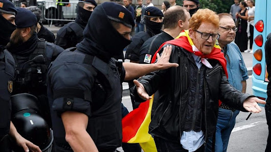 Violence at Catalonia polling stations
