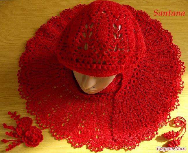 """Cape (mini-shawl) """"Flower"""" (lots of pics)"""