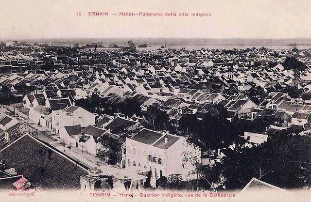 TONKIN - Hanoï. Panorama della citta indigèna - Hà Nội xưa