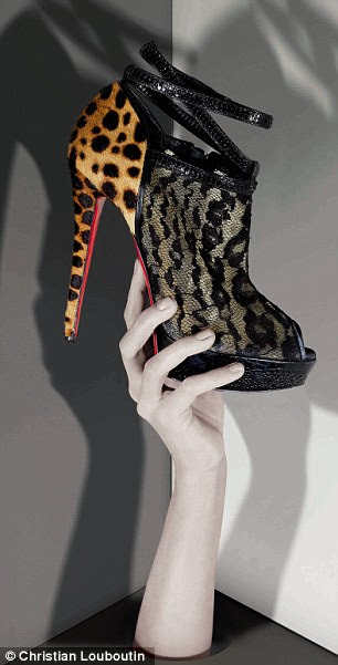 Luxury: Designer shoes such as these Louboutins are fuelling British women's passion for high heels