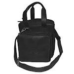Medium Black Soft Leather Pilot Bag