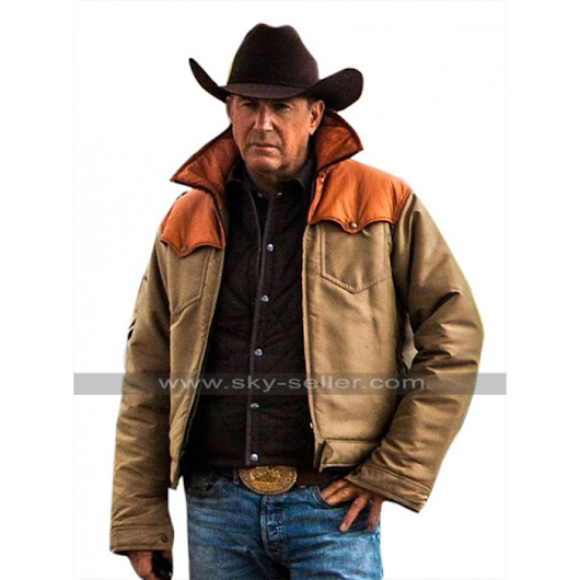 Kevin Costner Yellowstone John Dutton Leather / Cotton Jacket