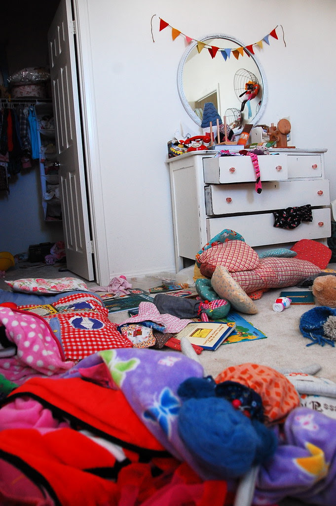 oh boy, their messy room!