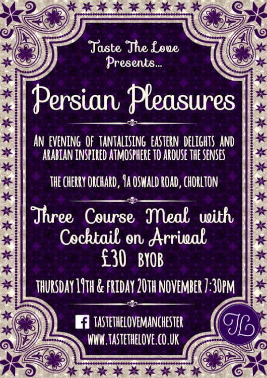 Persian Pleasures Pop Up Restaurant - Taste the Love
