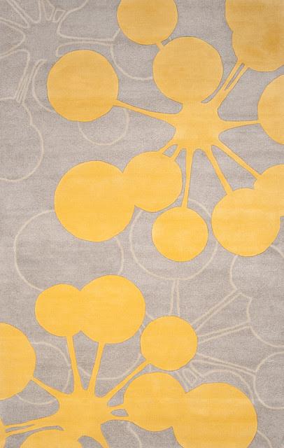 Organic Modern Rug — Bubble In Gray, 2x3 - modern - rugs - by