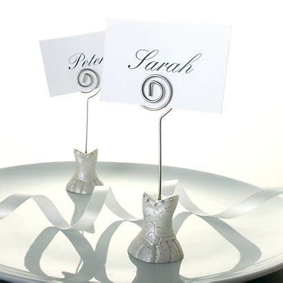 Bridal Dress Place Card Holders   Wedding Place Holders