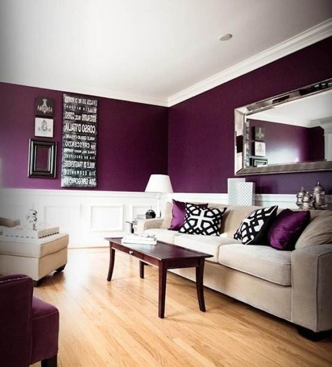 wohnzimmer in lila weiß