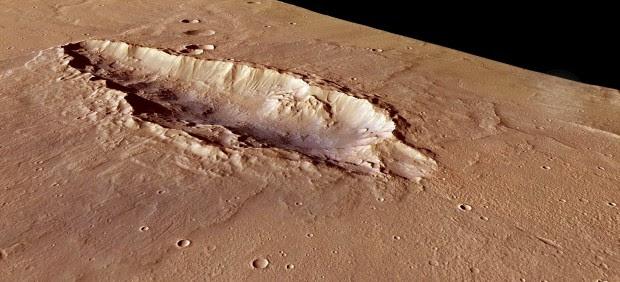 Un cráter en Marte