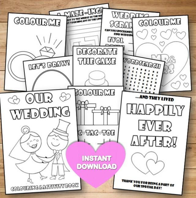 Free Printable Wedding Activity Pages
