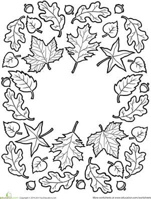 fall mandala  worksheet  education