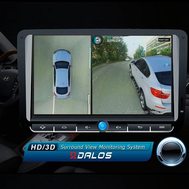 Beste Koop SZDALOS Originele Newst HD 3D 360 Surround View Systeem Rijden Ondersteuning Bird Panorama 4 Auto Camera 1080 P DVR G Sensor Goedkoop