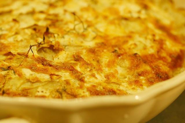 Celeriac Potato Gratin by Eve Fox, Garden of Eating blog, copyright 2011
