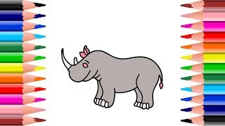 All Clip Of Cara Menggambar Binatang Badak Bhclipcom