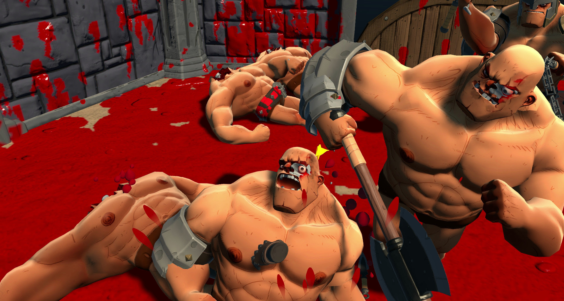 Gorn is the perfect name for this ridiculous gladiator sim screenshot