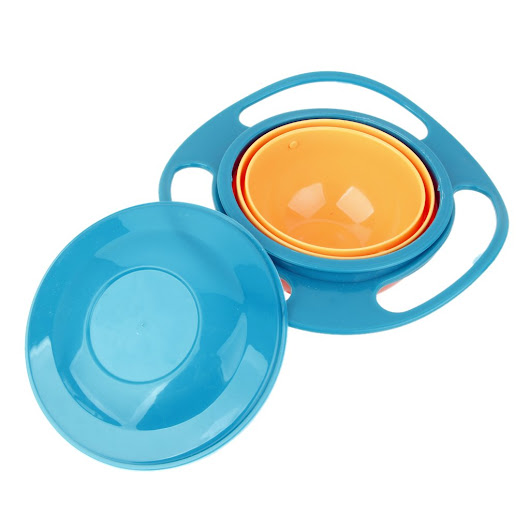 Deals on Imported Non Spill Feeding Toddler Gyro Bowl
