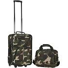 Rockland 2 PC Camo Luggage Set